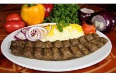 Broiled Ground Beef Kabob (Koobideh)
